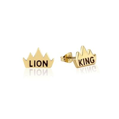 Disney_The_Lion_King_Crown_Yellow_Gold_Stud_Earrings_DLYE205_400x